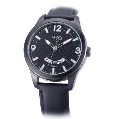 Esq Mens Black Strap Watch-37esq008201a
