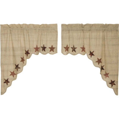 Classic Country Window Abilene Star Swag Pair