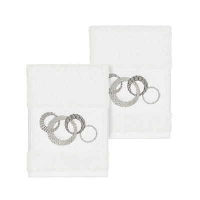 Linum Home Textiles 100% Turkish Cotton Annabelle Embellished Towel Collection