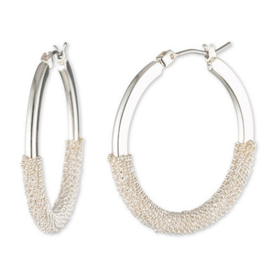 Chaps 30.5mm Hoop Earrings
