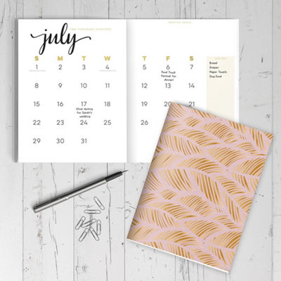 July 2018 - June 2019  Blush Leather Weekly Monthly Agenda