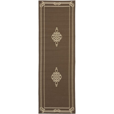 Safavieh Courtyard Collection Keane Oriental Indoor/Outdoor Runner Rug