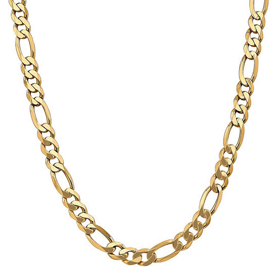 14K Gold 26 Inch Solid Figaro Chain Necklace