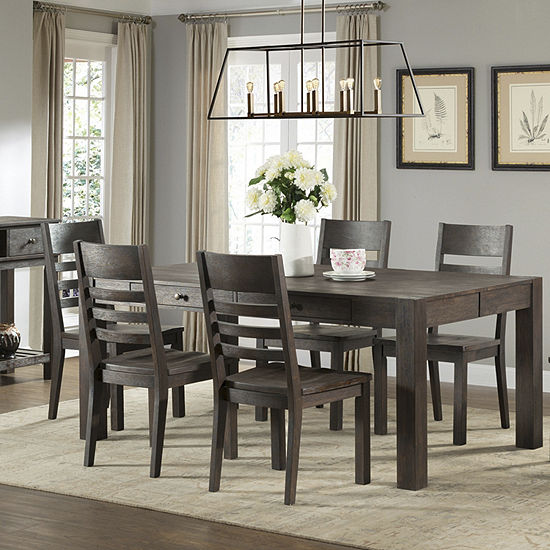 Salem 7-PC Counter Height Farm Dining Set