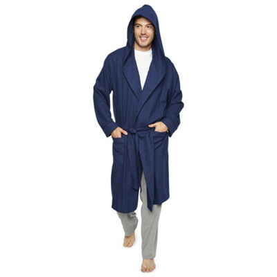 Stafford Men's Flannel Hooded Robe - Big