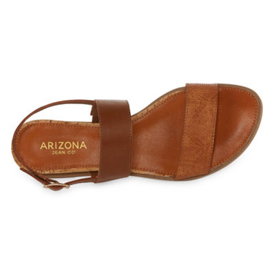 Arizona Womens Sharlene Ankle Strap Flat Sandals