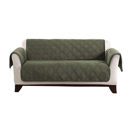 Surprising Sure Fit Triple Protection Furniture Protector Loveseat Slipcover Machost Co Dining Chair Design Ideas Machostcouk