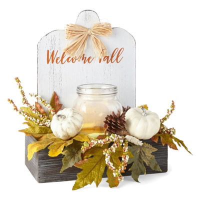JCPenney Home Welcome Fall Led Mason Jar Tabletop Decor