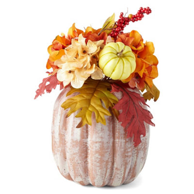 JCPenney Home Floral Pumpkin Tabletop Decor