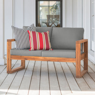 Open Side Patio Love Seat with Cushions