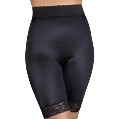 Rago Plus High Waist Hidden Tummy Panel Stretch-Lace Light Control Thigh Slimmers - 518p