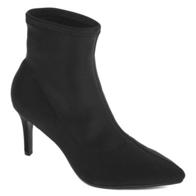 Worthington Womens Penley Sock Bootie Heel Slip-on