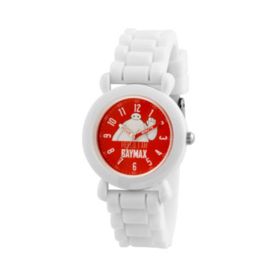 Disney Big Hero 6 Boys White Strap Watch-Wds000585