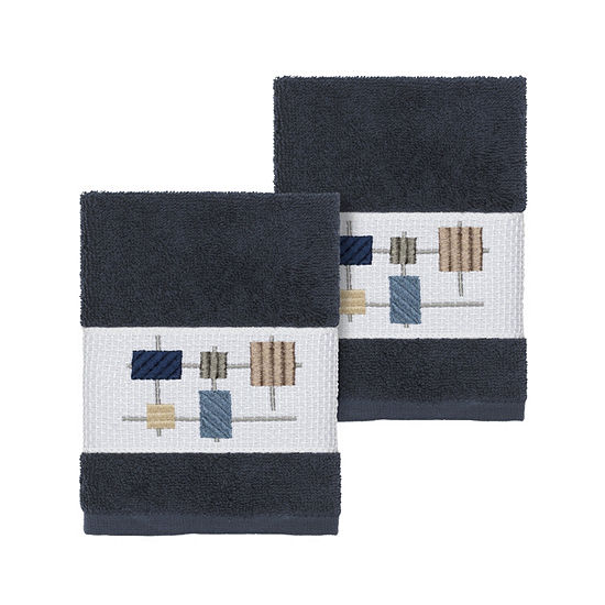 Linum Home Textiles 100% Turkish Cotton Khloe Embellished Towel Collection