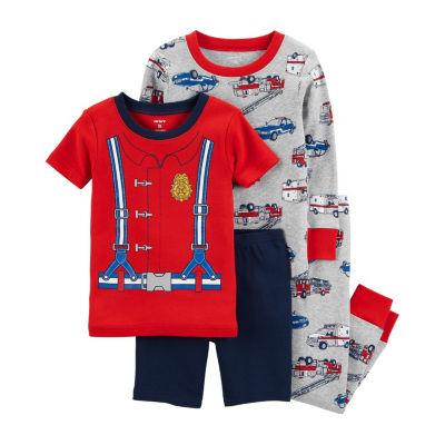 Carter's 4pc Firefighter Pajama Set - Infant Boy