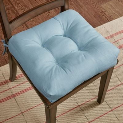 Madison Park Westport Linen Set of 2 Square Chair Pads