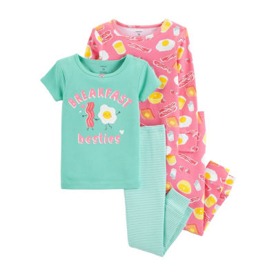 Carter's 4pc Breakfast Besties Pajama Set - Baby Girl
