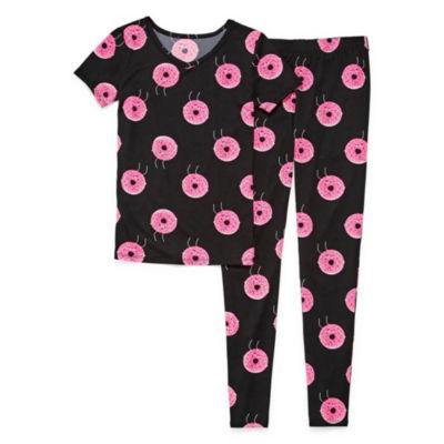Arizona 2pc Donut Tight Fit Pajama - Girls 4-16