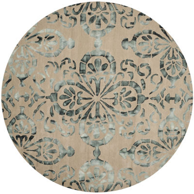 Safavieh Dip Dye Collection Vivyan Floral Round Area Rug