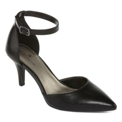 Worthington Womens Kason Pumps Strap Pointed Toe Heel