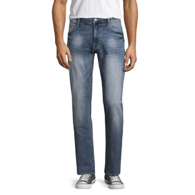 Arizona Mens Mid Rise Tapered Athletic Fit Jean