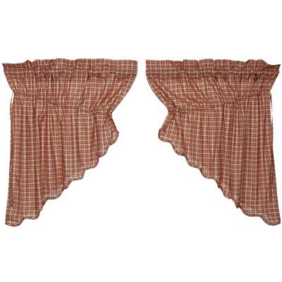 Americana Window Independence Scalloped Prairie Swag Pair
