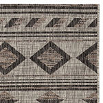 Safavieh Courtyard Collection Luana Geometric Indoor/Outdoor Area Rug