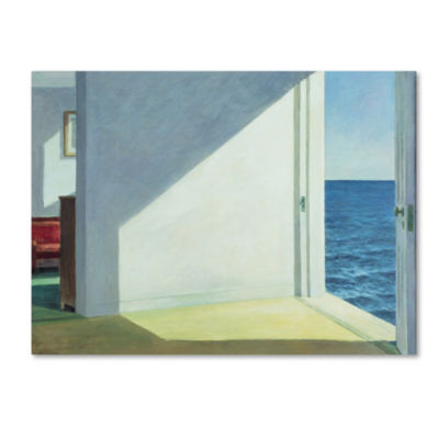 Trademark Fine Art Edward Hopper Rooms by the Sea Giclee Canvas Art