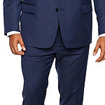 Shaquille O'Neal XLG Blue Solid Big and Tall Fit Stretch Suit Jacket