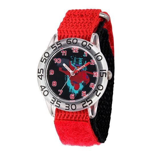 Disney Big Hero 6 Boys Red Strap Watch-Wds000584