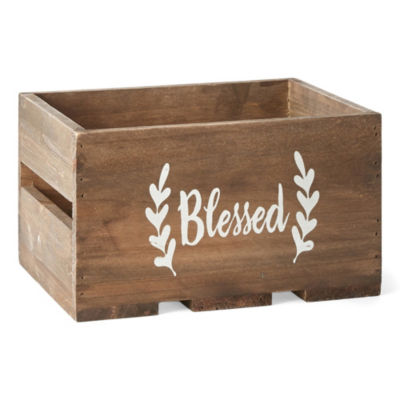 JCPenney Home Small Decorative Wood Crate