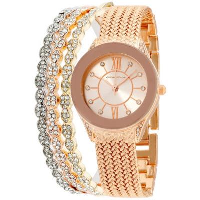 Adrienne Vittadini   Womens Rose Goldtone Bracelet Watch-Adst2613r679-524