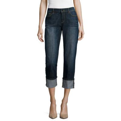 Liz Claiborne Straight Leg Jean - Tall
