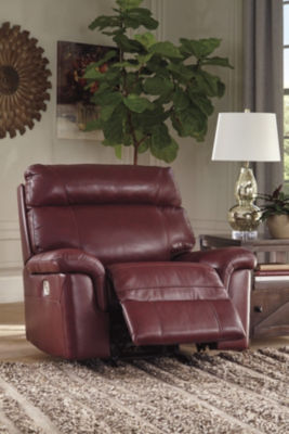 Signature Design By Ashley® Duvic Leather Power Recliner