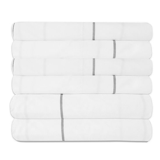 Sweet Home Collection 6-Piece 1500 Thread Count Egyptian Quality Deep Pocket Bed Sheet Set Window Pane