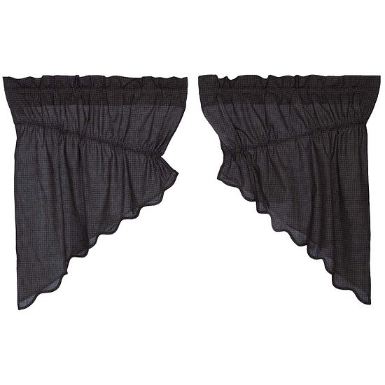 Classic Country Window Arlington Scalloped Prairie Swag Pair