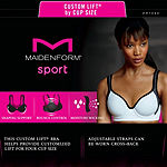Maidenform Custom Lift Medium Support Underwire Racerback Sports Bra-Dm7990