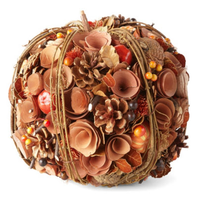 JCPenney Home Wood Curl Pumpkin Tabletop Decor