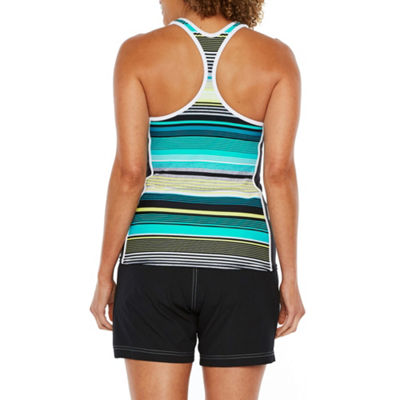 Zeroxposur Pattern Tankini Swimsuit Top
