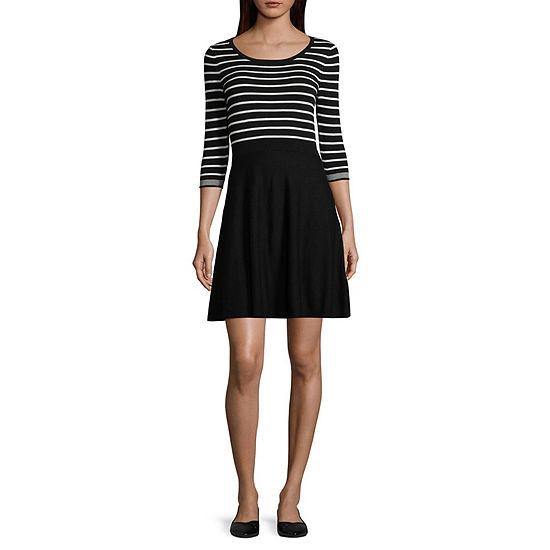 de10439d3a by by 3 4 Sleeve Sweater Dress-Juniors - JCPenney