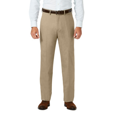 JM Haggar Sharkskin Classic Fit Flat Front Dress Pant