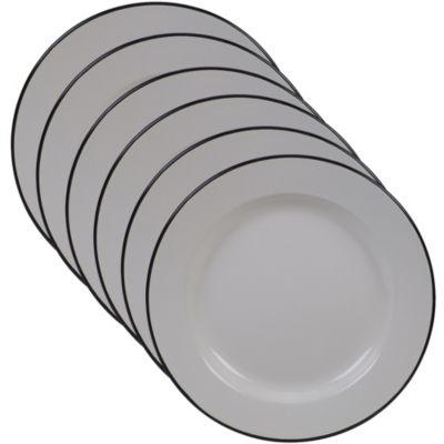 Certified International Enamelware Cream 6-pc. Dinner Plate
