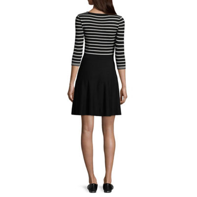by&by 3/4 Sleeve Sweater Dress-Juniors