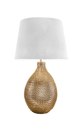 "Watch Hill 26"" Victoria Gold Chained Glass Cotton Shade Table Lamp"