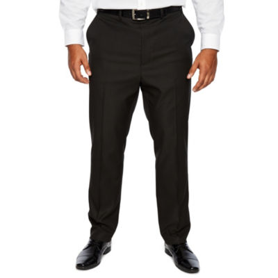 Shaquille O'Neal XLG Black Stretch Suit Pants - Big and Tall