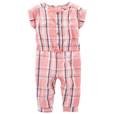 Carter's Short Sleeve Jumpsuit - Baby Girl