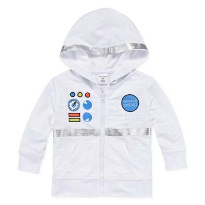 Okie Dokie Astronaut Zip Up Hoodie - Baby Boy NB-24M