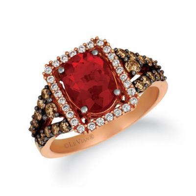 Grand Sample Sale™ By Le Vian® Neon Tangerine Fire Opal® 5/8 CT. T.W. Vanilla Diamonds® & Chocolate Diamonds® 14K Strawberry Gold® Ring