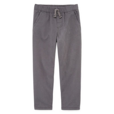 Okie Dokie Twill Pull-On Pants-Toddler Boys
