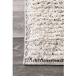 nuLoom Moroccan Diamond Shearer Shaggy Area Rug